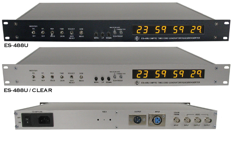 ES-488U SMPTE/EBU Time Code Generator/Reader