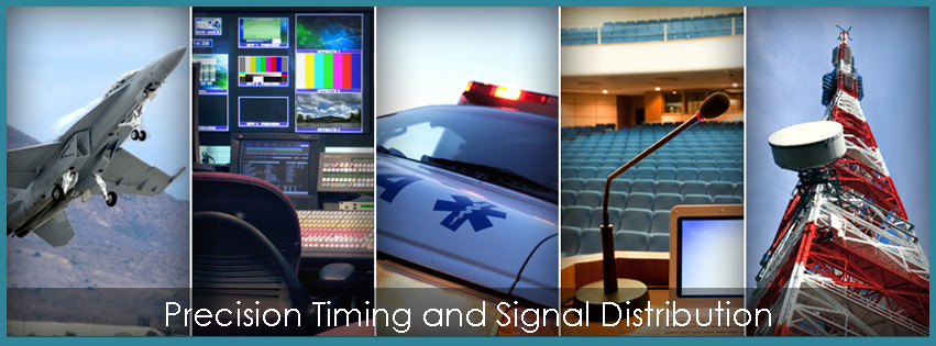 Precision Time and Signal Distribution Products for Broadcasting and Military uses. Including Precision Timing, Master Clocks, Signal Distribution, GPS, Timers